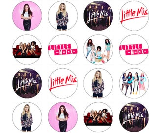 24 Little Mix Wafer Rice Card Cupcake Topper Edible Fairy Cake Bun Toppers Decor