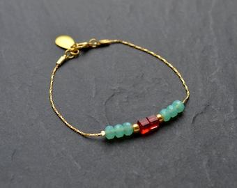 """Bracelet fine """"Isabella"""" Crystal, swarovski crystal cubes"""