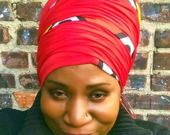 Afrocentric Mix Tubular Head-Wrap