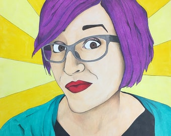 8 x 10 Custom Pop Art Portrait