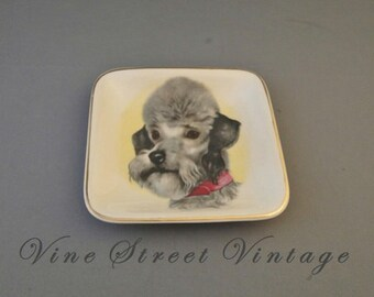 Vintage Sandl And Ware Staffordshire England Terrier Dish