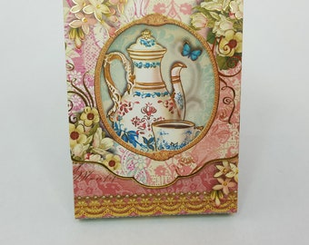 Punch Studio Tea Time Mini Notepad Magnet