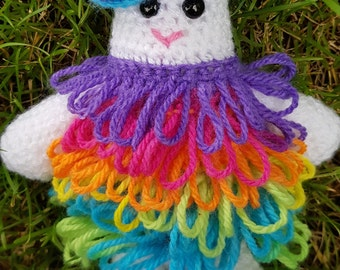 Raggedy Ralph Folk Monster Kit - Pattern, Yarn and Jingle bells!