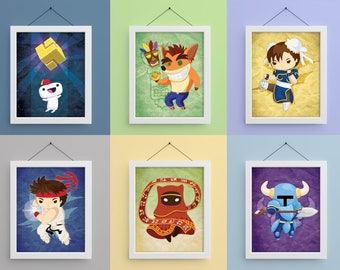 Video Game Heroes 8x10 Prints