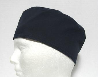 Navy Blue Mens Scrub Hat, Surgical Cap, or Skull Cap