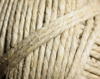 2 meters - 3.5 mm - 4 mm white hemp twine cord - 4558550083791