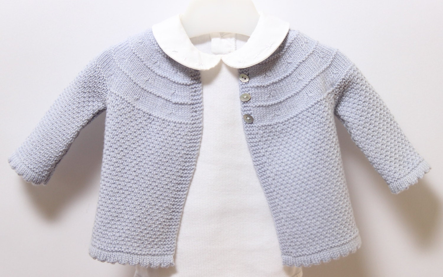 Baby Jacket / Knitting Pattern Instructions in English / PDF