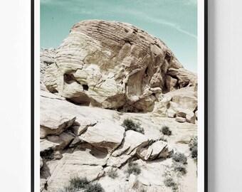 Désert Art, Decor de sud ouest, Art mural neutre, la photo de montagne désert Arizona, photo Minimal, désert Wall Art, art scandinave