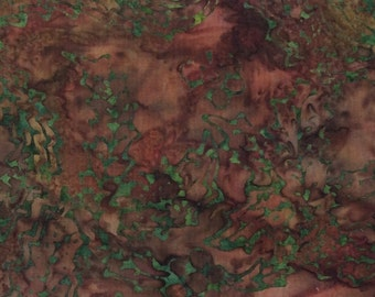 Marble Washed Batik Fabric - Artisan Indonesian from Majestic Batiks - CB 309 Magenta Green, Priced by the 1/2 yard