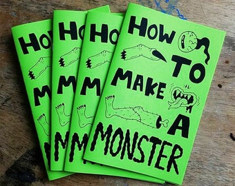 How To Make A MONSTER!!! Art Zine