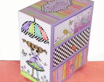 Girls Jewelry Box Big Eyes Sweet & Sassy Personalized