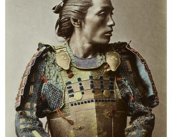Samurai Japanese image vintage 8 1/2 x 11 reproduction art