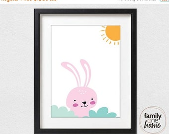ON SALE Happy Bunny in the Sun (Pink)