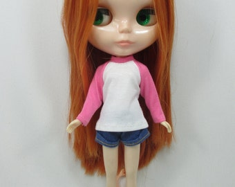 Handmade outfit for Blythe doll long sleeve Sweater Tee shirt SD-6