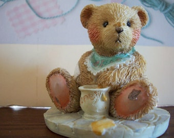 Two Cherished Teddies, BENJI, Life is Sweet Enjoy, 1991, Plus free Cherished Teddy by Nanas Vintage Shop on Etsy