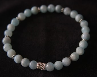 Chalcedony and Sterling Silver Bracelet - Heaven's Foundations Series