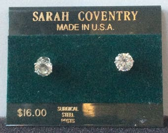 Surgical Steel posts for sensitive ears Hypo Allergenic Stud Earrings S. Coventry 6mm