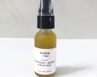 Organic Rosehip + Hemp Oil Face Serum : best seller | moisturizer | organic | face oil | acne control | hydration | wrinkle repair | vegan