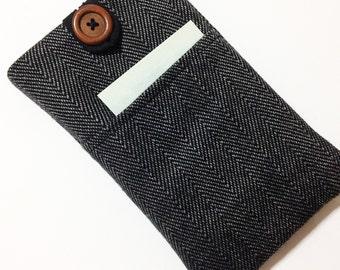 Herringbone,Google xl cover ,Fabric iPhone 8 case ,iPhone 6 case, floral iPhone 6 Plus cover, iPhone 6S Plus pouch, iPhone SE sleeve,