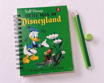 Recycled Little Golden Book Journal, Little Man of Disneyland