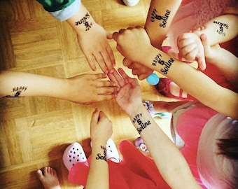 "20 personalized tattoos ""HAPPY""age""+ name"" birthday child (customizable, temporary tattoo, evening accessory, ephemeral)"