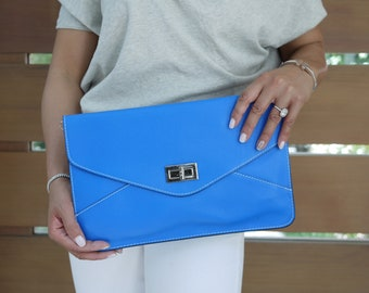 Italian Leather Envelope Clutch