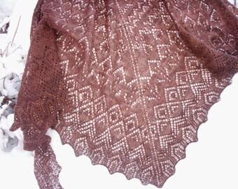 Elegant Beaded Lacework Shawl for Evening or Formal Wear