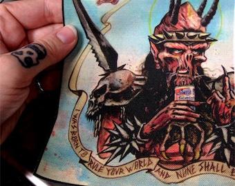 Gwar patch  oderus dave brockie memorial art for your metal vest / battle jacket