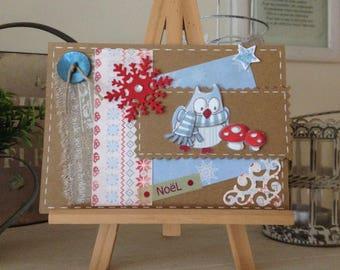 Christmas card - Christmas Owl