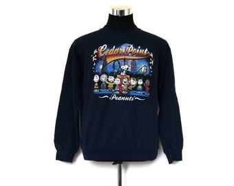 CRAZY SALE !! Peanuts Cedar Fair Sweatshirt Nice Design