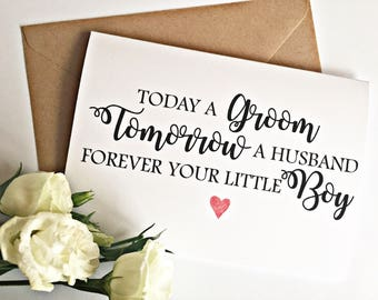 Mother of The Groom / Father of the Groom Card