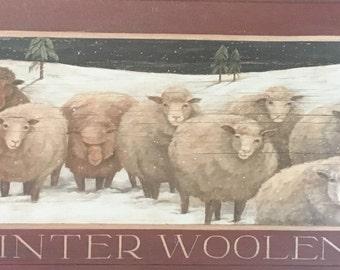 Winter Woolens flock of sheep print