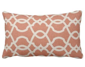 lumbar covers, lumbar pillow, orange chair pillow, orange bed pillow, trellis pillow, 12x18 pillow, pillow cover, chair pillow cover,
