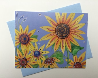 Sunflowers - Box of 8 Blank Cards