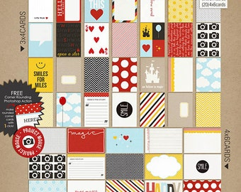 Project Mouse: Basic Journal Cards - Perfect for Project Life & Digital Scrapbooking Disney, Mickey Mouse