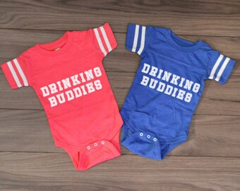 Drinking Buddies Bodysuit Onesie Set by InfiniteWares