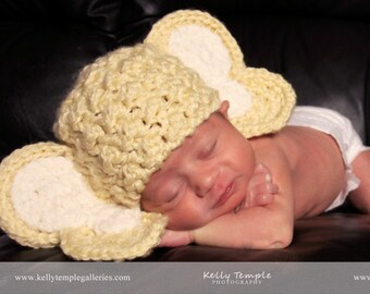 Crochet PATTERN Childrens Crochet Elephant Hat Crochet Animal Hat Pattern