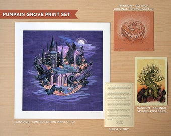 Pumpkin Grove - Print and Sketch Set