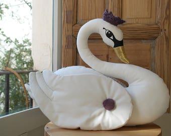 Elegant white swan.