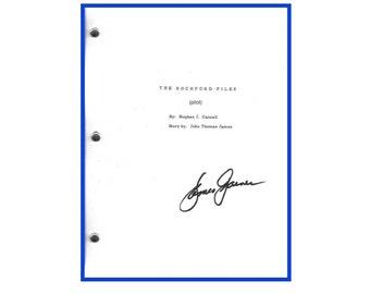The Rockford Files Pilot Episode Script Autographed: James Garner