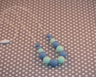 Blue and Mint Green Teething Necklace