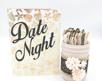 Date Night jar, Anniversary gift, wedding, engagement gift, date night ideas, date night cards, gifts, bridal gift