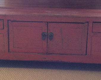 Asian Chest, Low Storage Cabinet, Accent Piece, Altar
