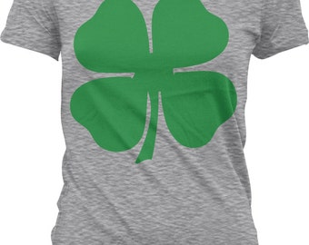 4 Leaf Clover Shirt, St. Patrick's Day Shirt, St Patricks Day Shirt, St Patricks Day, St Paddys Day Junior and Women's Tshirts_GH_01080