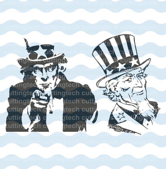 Uncle Sam American Patriotic Symbol Svg Digital Logo Eps Cdr Png