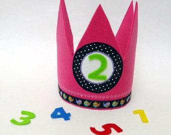 Birthday Crown Crown kids pink blue crown birthday children