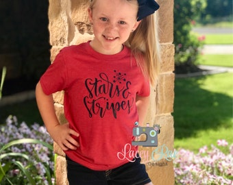 Stars and Stripes triblend shirt, womens or youth sizes, 4th of july, Memorial Day, patritoic, patriotic graphic tee