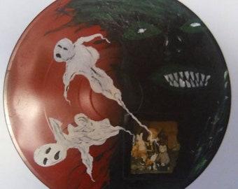 Original lowbrow painting! Creepy Dark Art! Acrylic on 12 inch vinyl record.