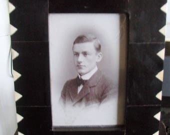 Photo of a male in an Ebonised Frame with Ivory inset