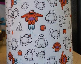 Custom Big Hero 6 Lamp Shade, White, Black, Orange